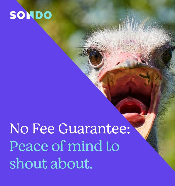 No fee guarantee mobile header